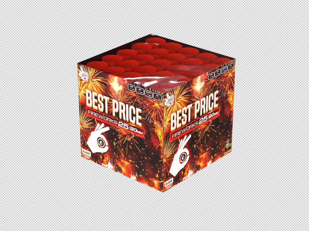 """Fejerverkas-baterija """"Best Price Wild Fire 25"""" (25 šūviai, 20mm)"""