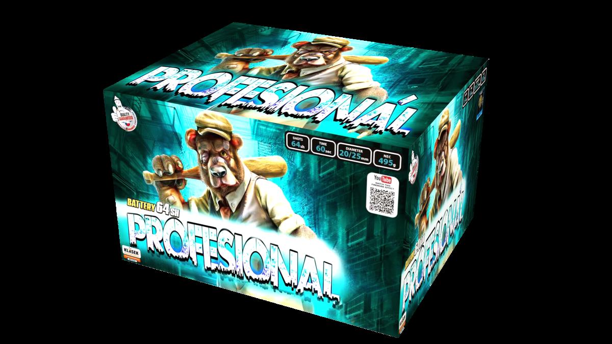 """Fejerverkas-baterija """"Profesional"""" (64 šūviai, 20, 25mm)"""