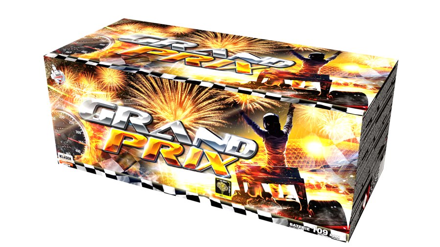 """Fejerverkas-baterija """"Grand Prix"""" (109 šūviai, 20, 25, 30mm)"""