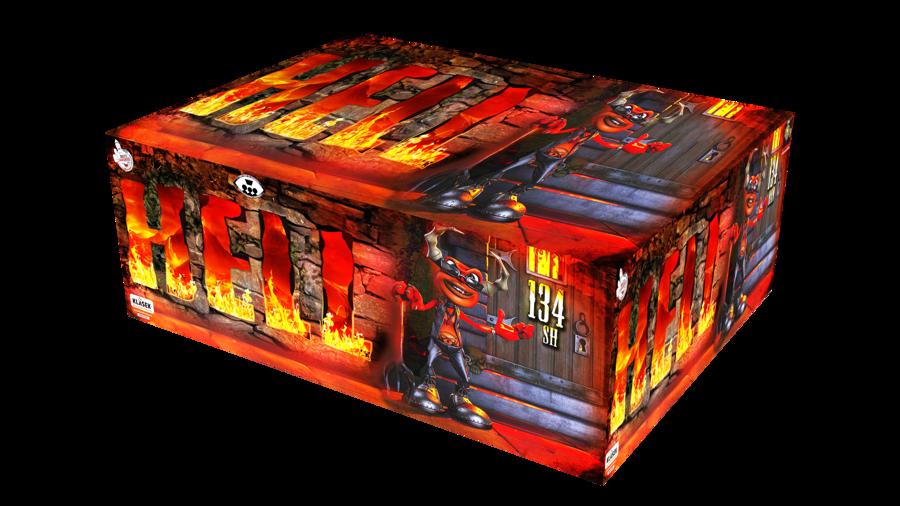 """Fejerverkas-baterija """"Hell"""" (134 šūviai, 20mm, įvairiakryptis)"""