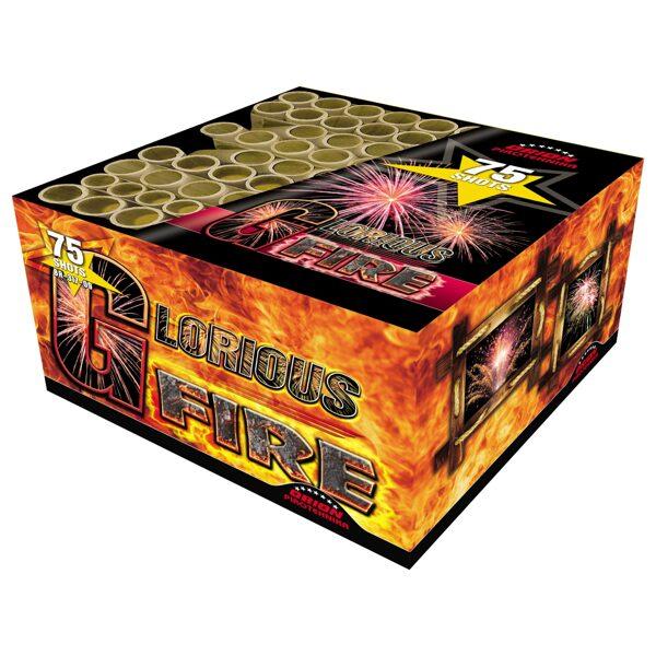 """Fejerverkas-baterija """"Glorious Fire"""" (75 šūviai, 20, 25mm, įvairiakryptis)"""